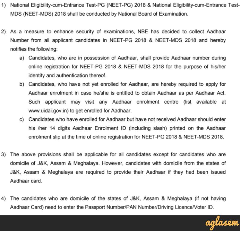 NEET PG 2018 Application Form | NEET PG 2018 Registration