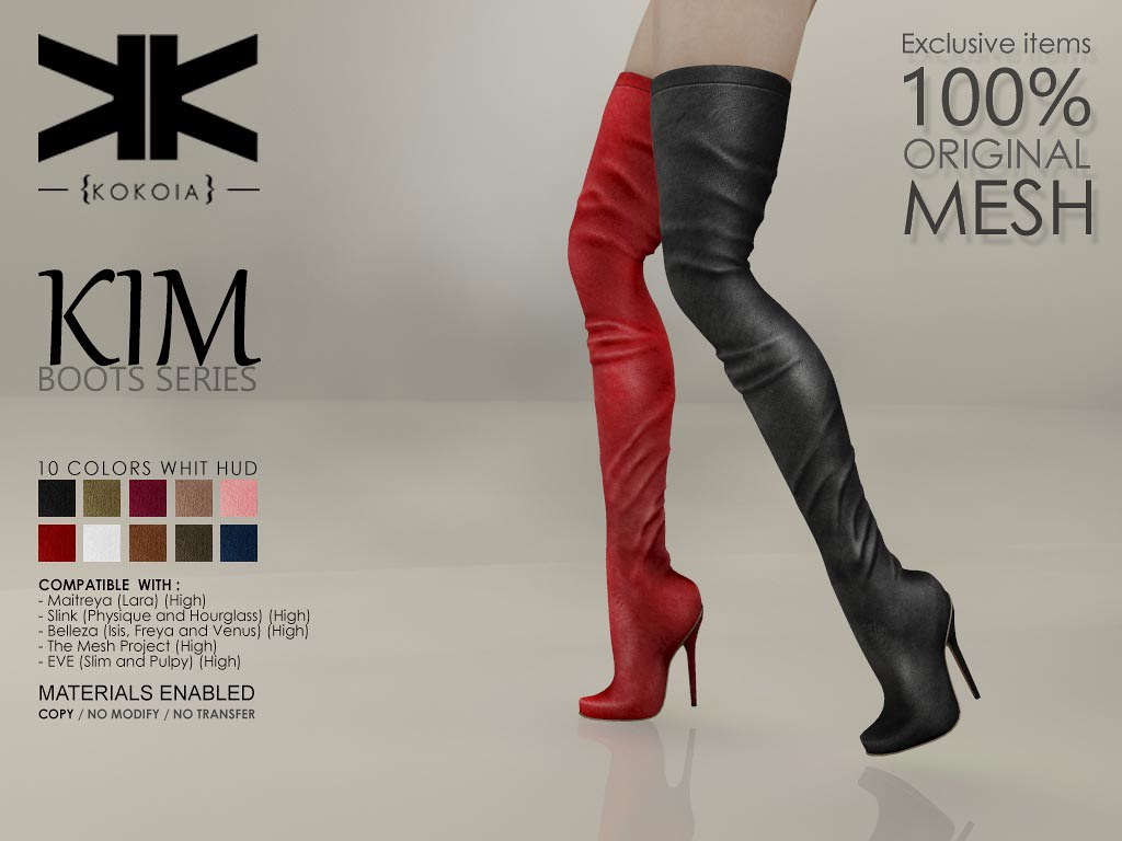 Kim :: Boots Series :: 10 Colors | Purchase | Shop in Second