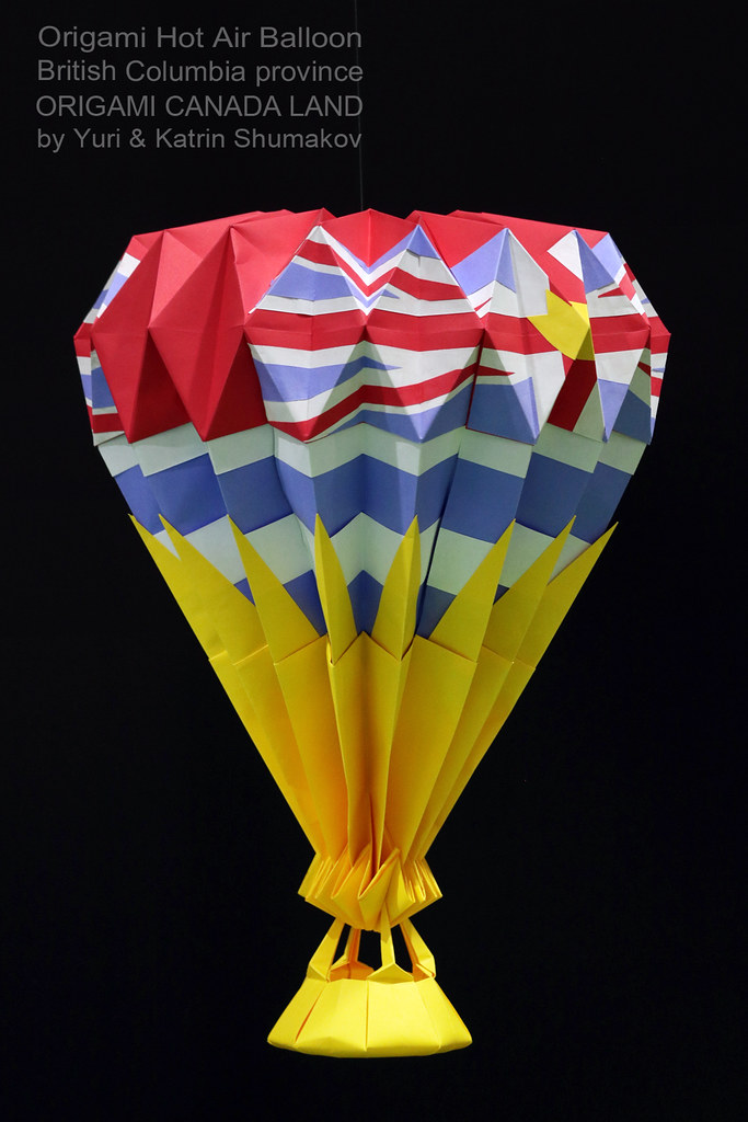 Origami Hot Air Balloon British Columbia Province Flickr
