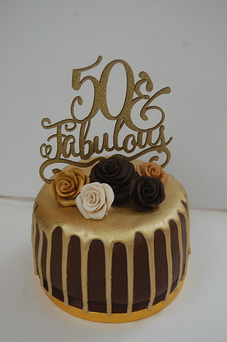 Terrific Fabulous 50Th Cake Beautiful Birthday Cakes Personalised Birthday Cards Bromeletsinfo