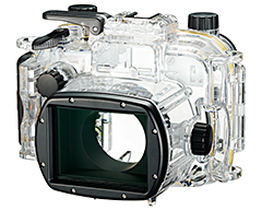 Canon underwater casing (WP-DC56), compatible with the PowerShot G1 X Mark III.