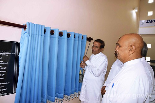 President opens Technology Labouratory at Jaffna Hindu College