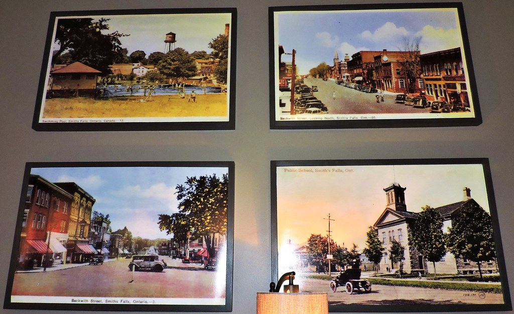 Vintage Local Postcards Blown Up And Framed Cafe Whim Sm Flickr