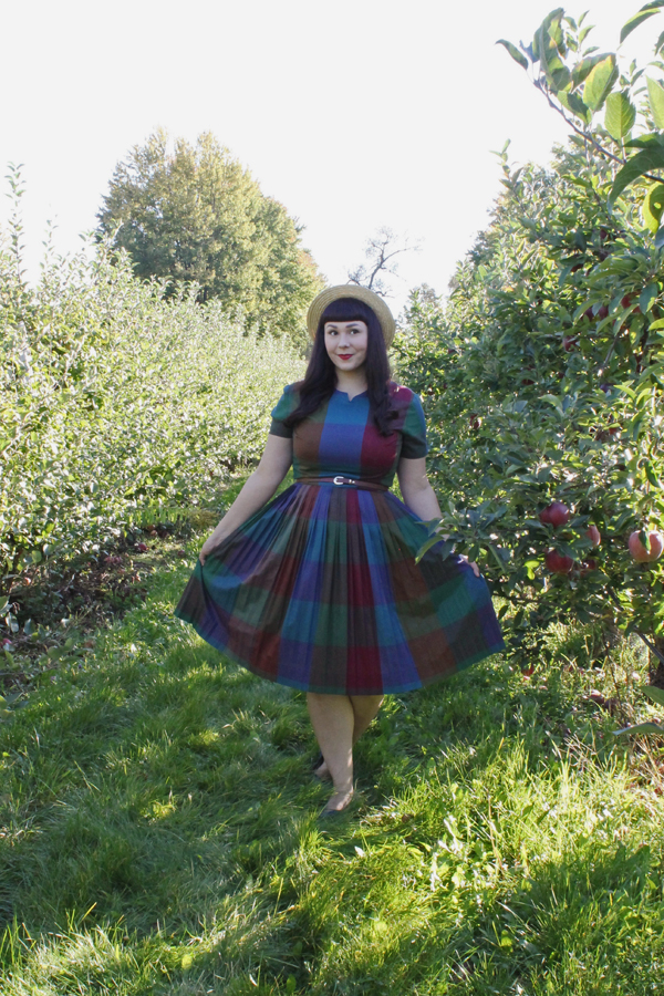 autumn madras dress