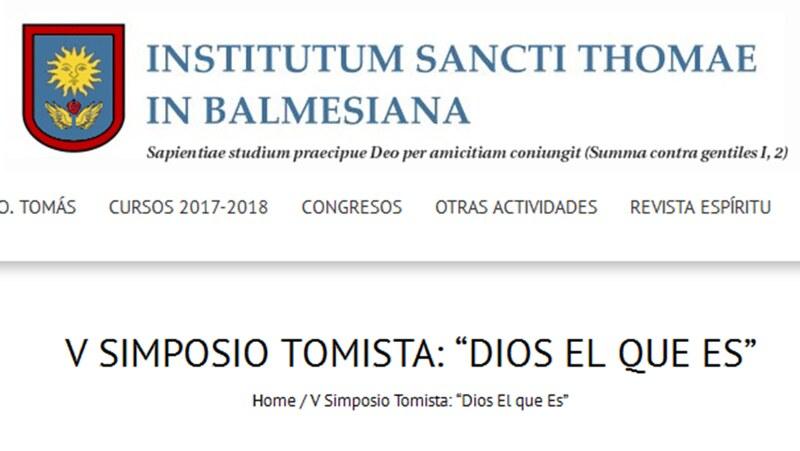 """Simposium tomista: """"Dios es el que Es"""""""