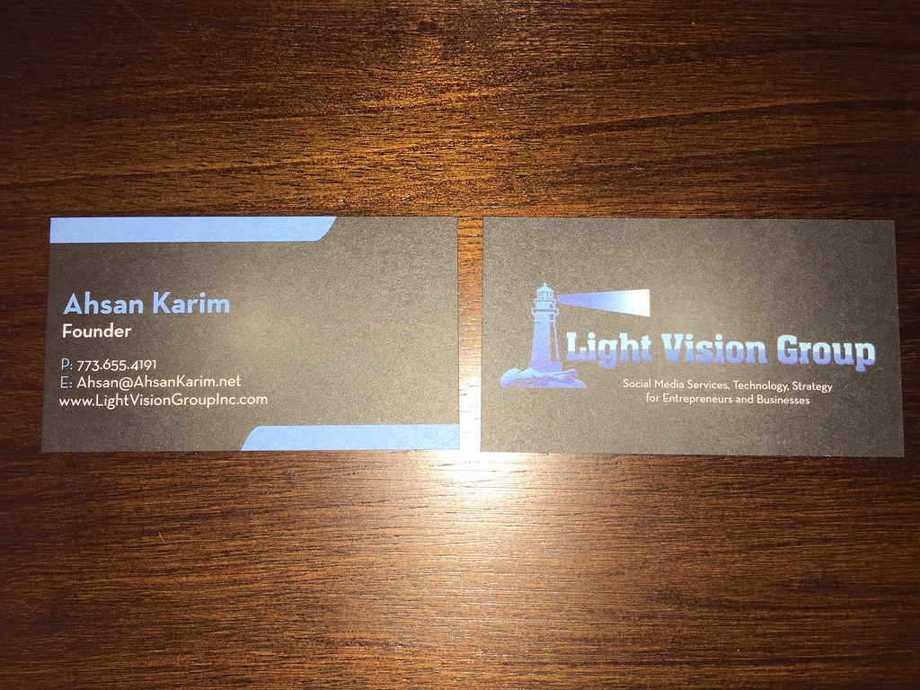 Triple thick, blue painted edge business cards with front … | Flickr