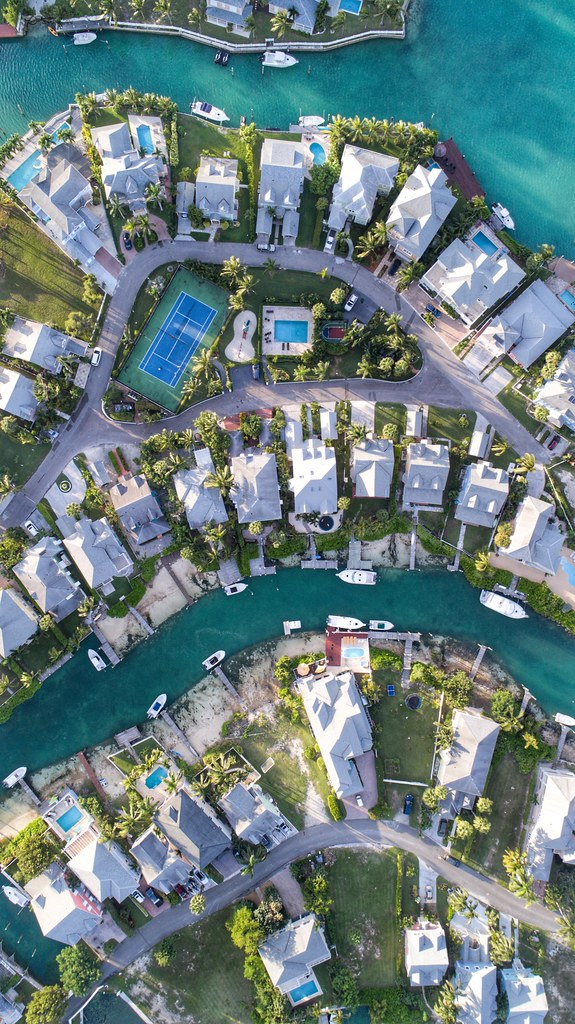 Sandyport Marina Village New Providence Bahamas Architecture Aerial View Building Exterior High Angle
