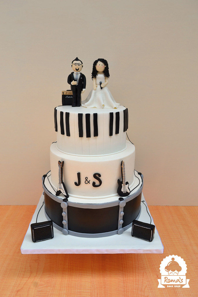 Music Theme Wedding Cake Heres A Cake For Jacinth And Sab Flickr