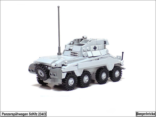 Schwerer Panzerspähwagen (5cm) SdKfz 234/3 de Panzerbricks