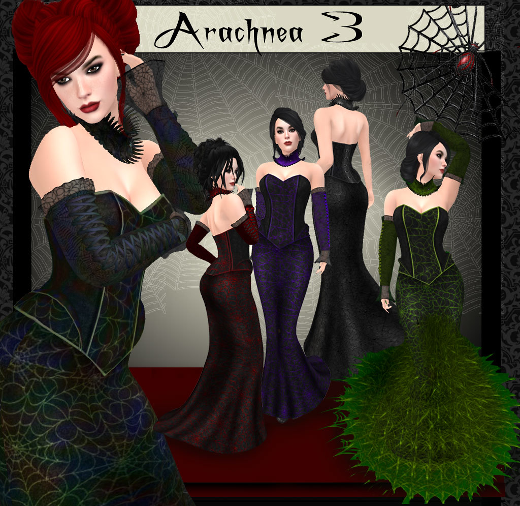 Arachnea 3 Gothic gown | Spider webby gown with gloves/arms | Flickr