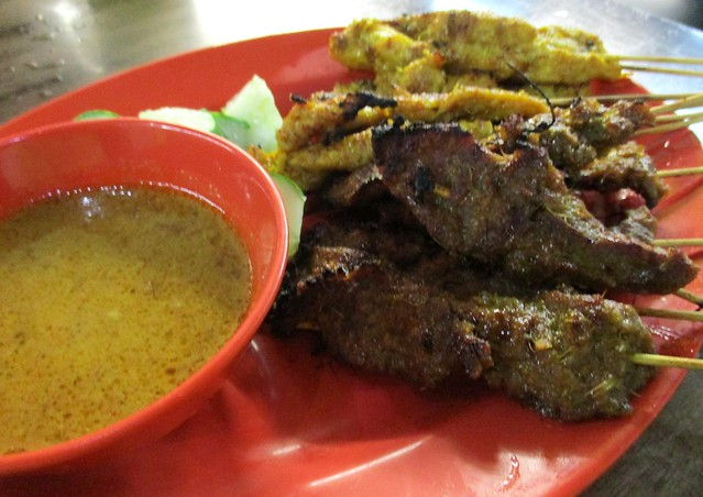 Colourful Cafe beef & chicken satay 2