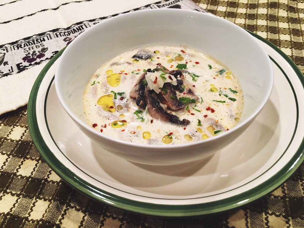 3 cream chili pepper mushroom soup