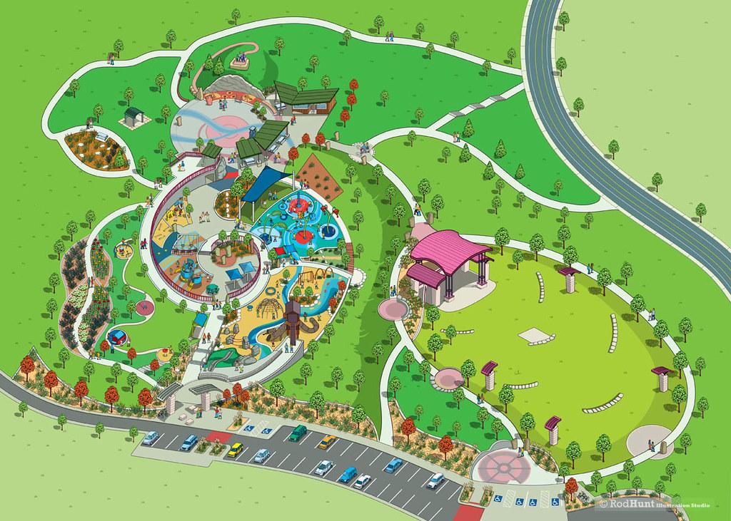 centennial center city park gardens map illustration by flickr. Black Bedroom Furniture Sets. Home Design Ideas