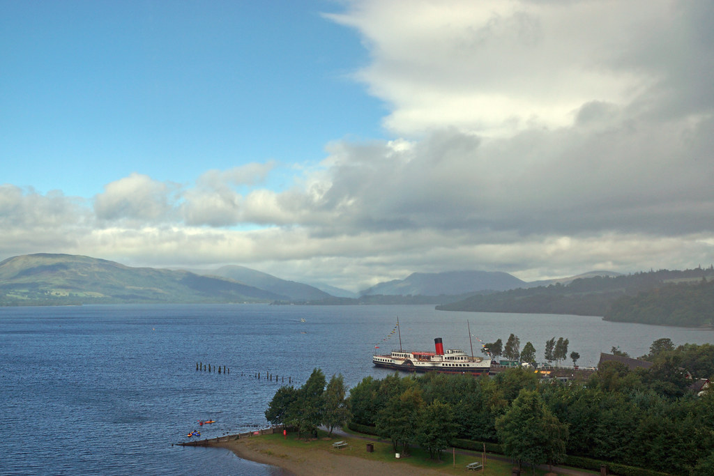Beautiful view of Loch Lomond at Balloch
