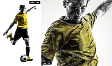 Glossy Plastic (glossy plastic) – nice Photoshop action