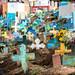 Colourful Mayan cemetery in Chichicastenango, Guatemala.