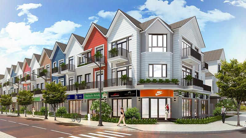 Phối cảnh thiết kế Shophouse Park Riverside Premium
