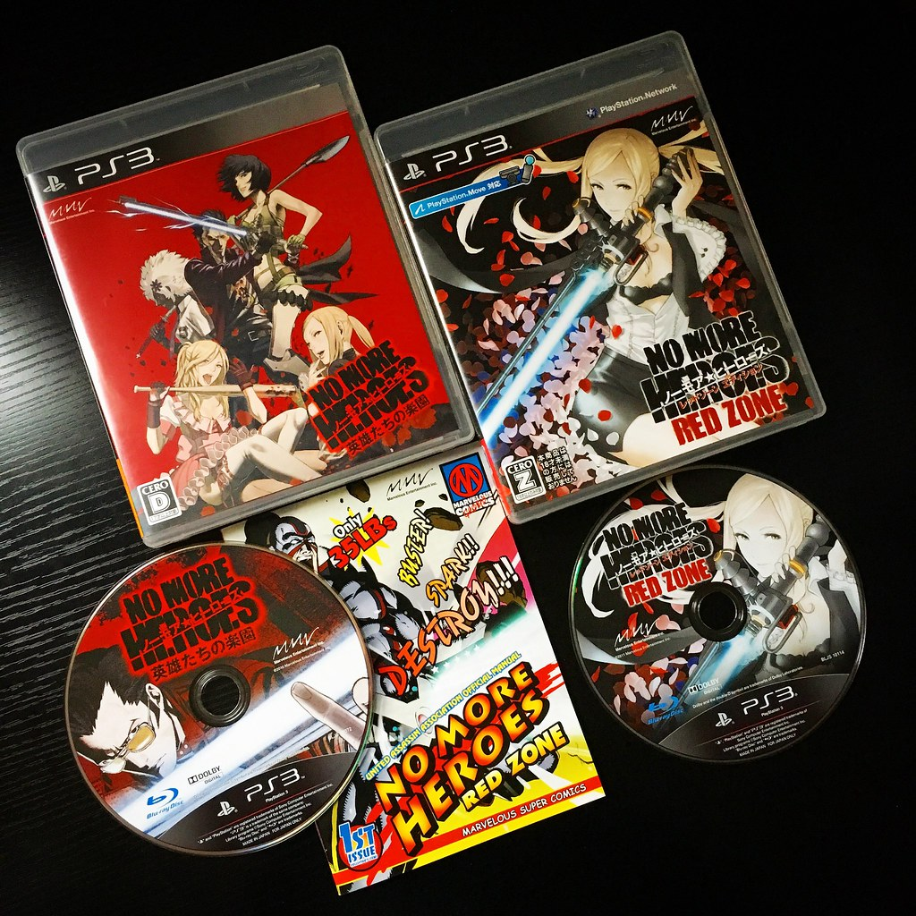 no more heroes and no more heroes red zone for ps3 red zo flickr
