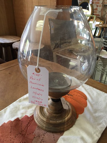 Pair of Hurricane lamps $125 | by Ellaway's Attic