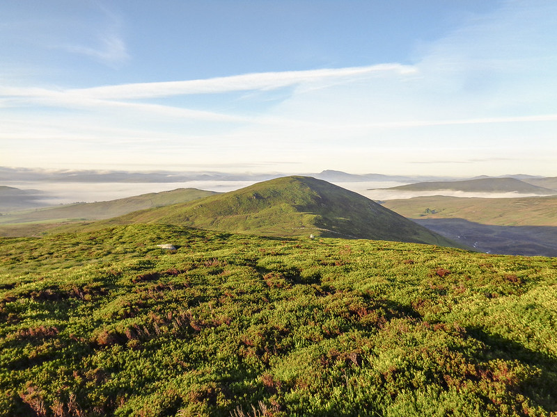 Looking to Graig Ddu, and the mist over Frongoch and Llyn Celyn