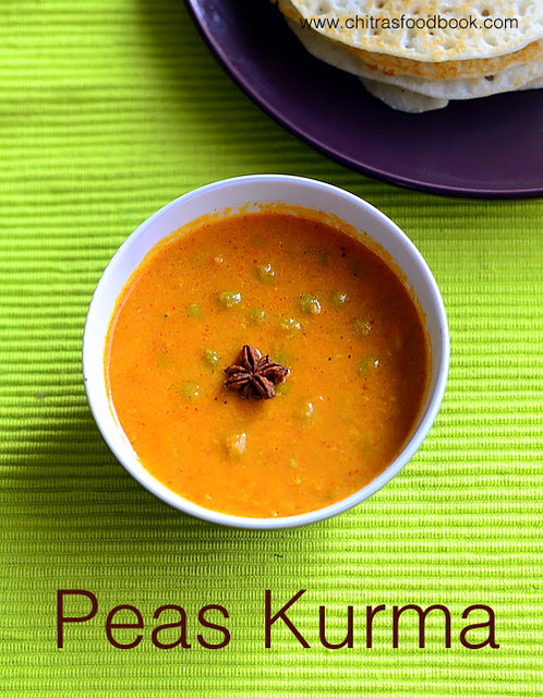 Peas kurma for chapathi