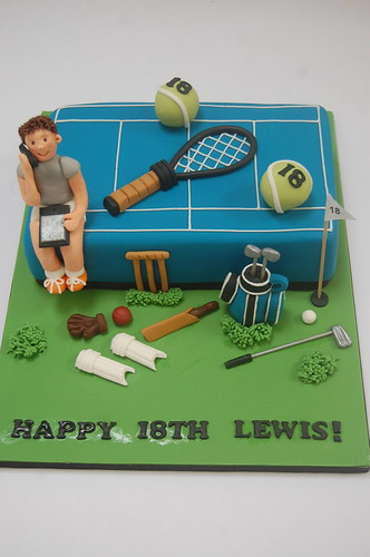 Awesome Tennis Cakes Beautiful Birthday Cakes Personalised Birthday Cards Veneteletsinfo