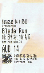 Blade Runner 2049 ticketstub