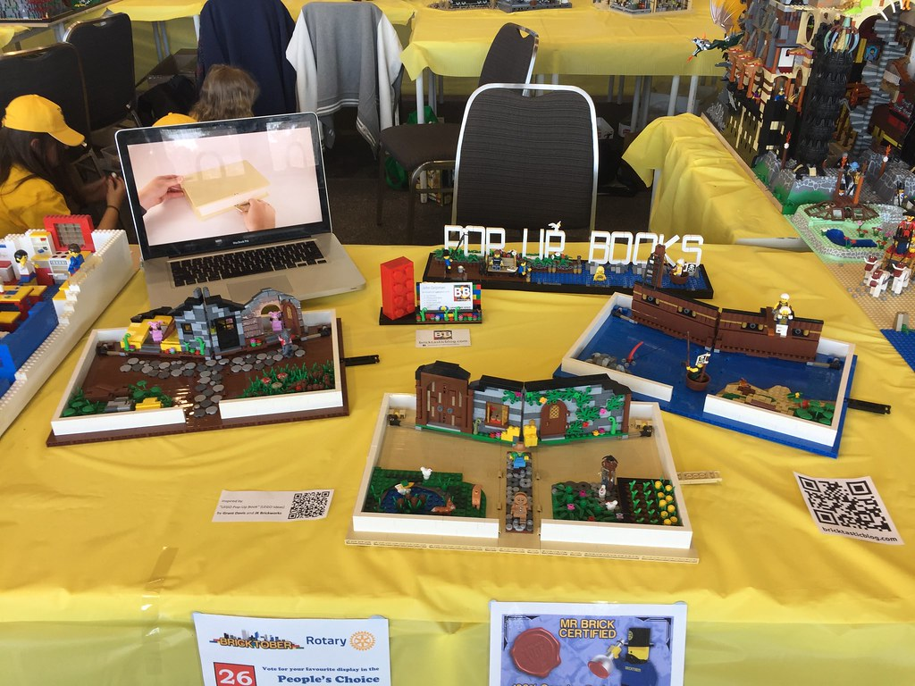 Pop Up Books Display - Bricktober Perth 2017
