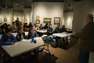 ESOL students in Shafer Gallery