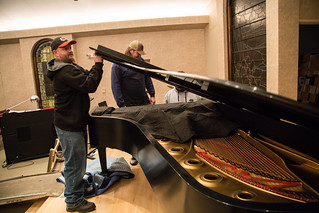 Steinway being packed up to get refurbished