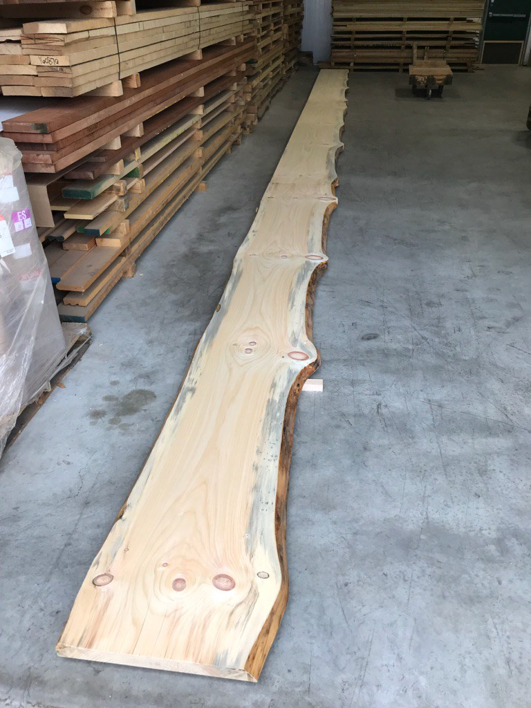 knotty pine slab bar top check out this 45 foot long natur flickr