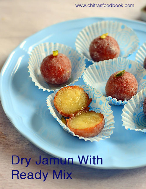 Dry gulab jamun with ready mix