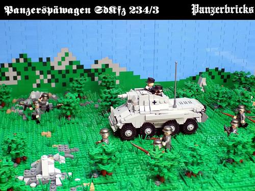 Schwerer Panzerspähwagen (7,5cm) SdKfz 234/3 de Panzerbricks