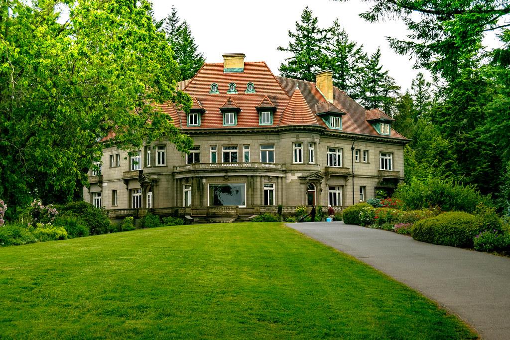 Pittock Mansion, Portland, Oregon - Jardín de la mansión