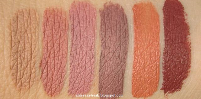 here 39 s a swatch of the dose of colors liquid lipsticks i