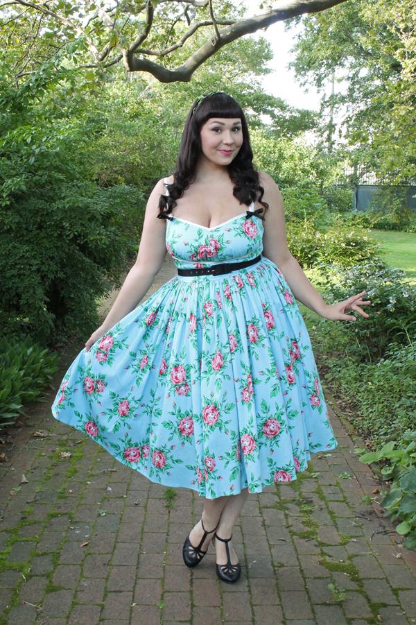 unique vintage rose dress