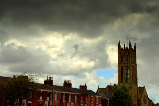 Storm clouds over St Marks Preston | by Tony Worrall