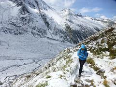 Verschneiter Aufstieg zur Warnsdorfer Hütte