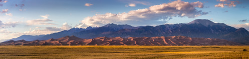 great sand dunes national park panorama | by Christian Collins