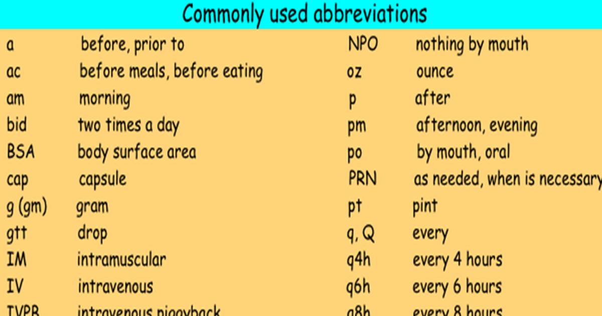 Abbreviations in English 5