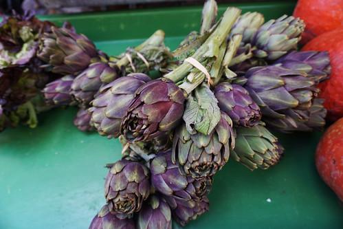 annecy market artichokes