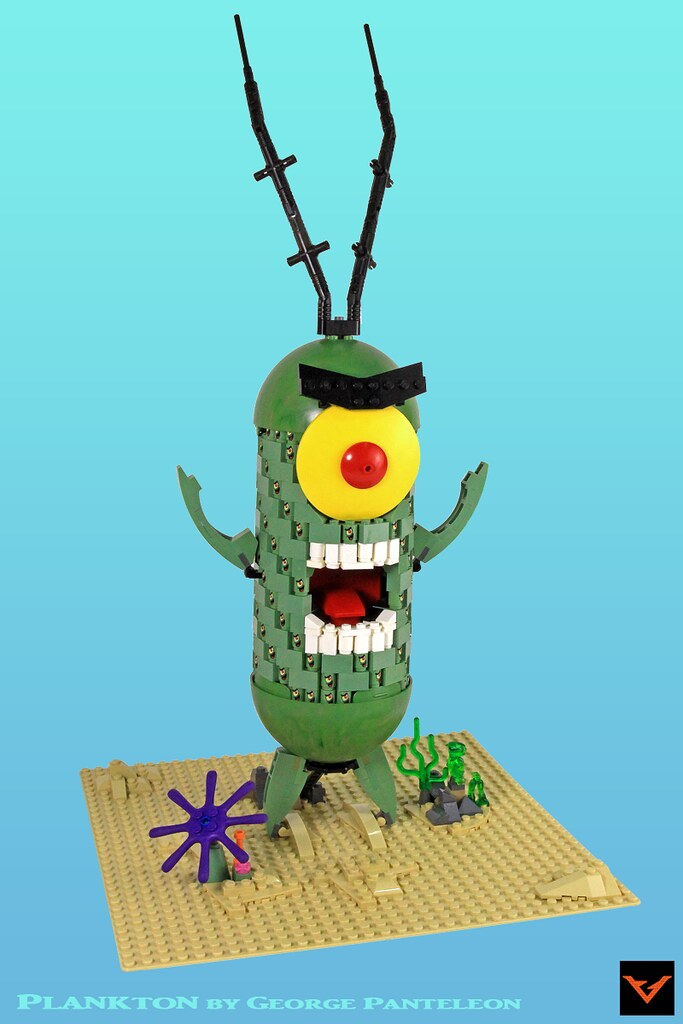 sheldon j plankton a giant plankton made out of 143 littl flickr