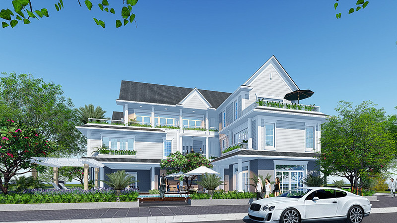 Phối cảnh thiết kế biệt thự Park Riverside Premium