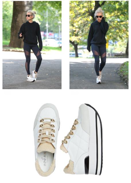 sneakers con maxiplataforma H222 de Hogan,