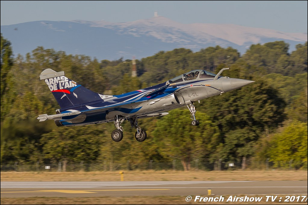 Rafale Solo Display , Rafale C , France - Air Force - 4-GL , Dassault Aviation , Avignon Air Show 2017 , Aéroclub Vauclusien, Mont Ventoux , avignonairshow2017 , Meeting Aerien 2017