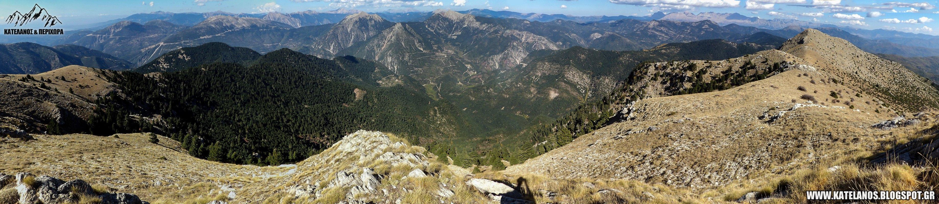 κορυφη τσακαλακι ορεινη ναυπακτια πανοραμα
