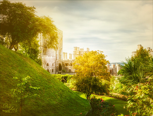 Image of a hidden garden in Windsor Castle