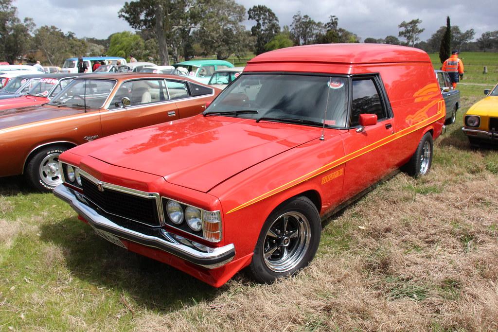 1979 Holden Hz Sandman Panel Van Firethorn Red The Hz