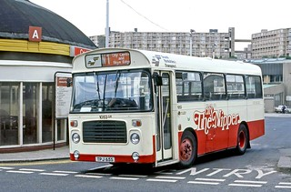 South Yorkshire Pte 1053 Tpj65s Leaving Sheffield Bus Station On City Nipper Route