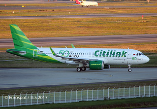 F-WWBF Airbus A320 Citilink, 50th A320 for Citilink | by @Eurospot